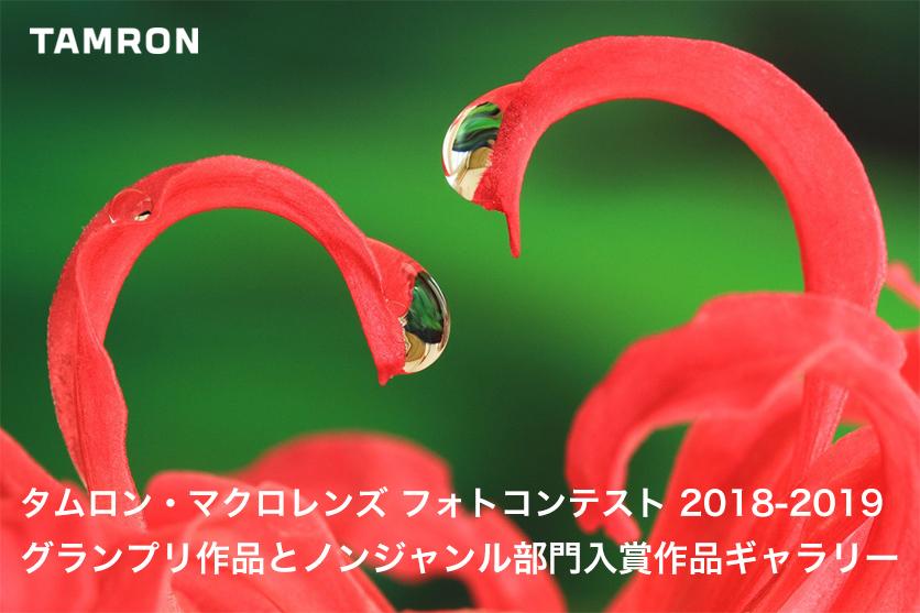 タムロン・マクロレンズ フォトコンテスト2018年・2019年、グランプリ作品とノンジャンル部門入賞作品ギャラリー